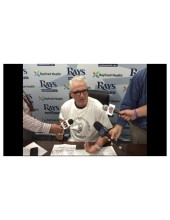 Tampa Bay Rays Manager, Joe Maddon, Sporting a CNS Foundation Tee